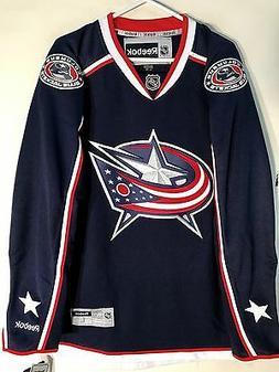 Reebok Premier NHL Jersey Columbus Blue Jackets Team Navy sz